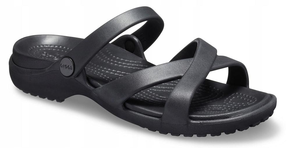 Crocs Meleen black czarne sandały klapki W10 41
