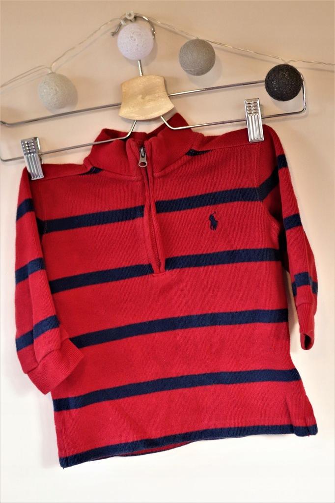 RALPH LAUREN dziecięcy sweterek markowy w paski