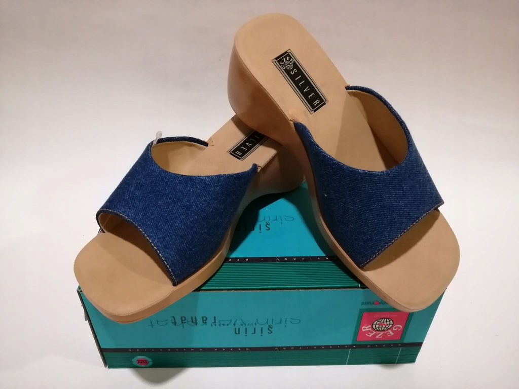 NOWE Buty Sandały damskie Niebieskie Jeans Gezer 36 37, 38