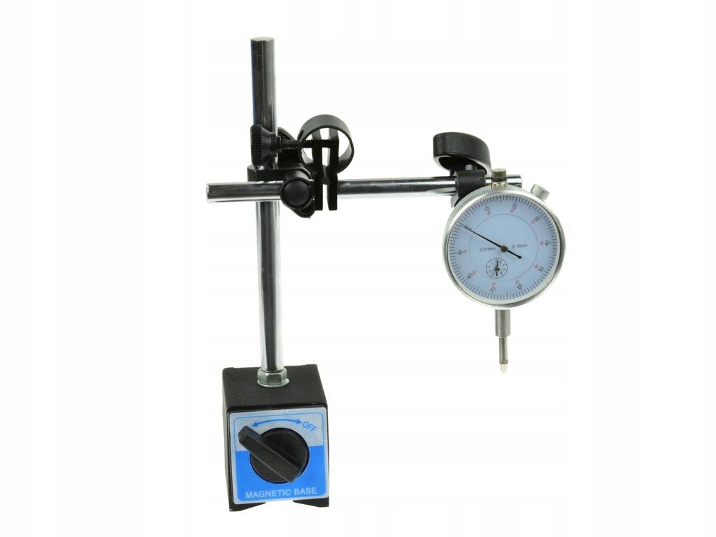 Statyw magnetyczny + czujnik zegarowy