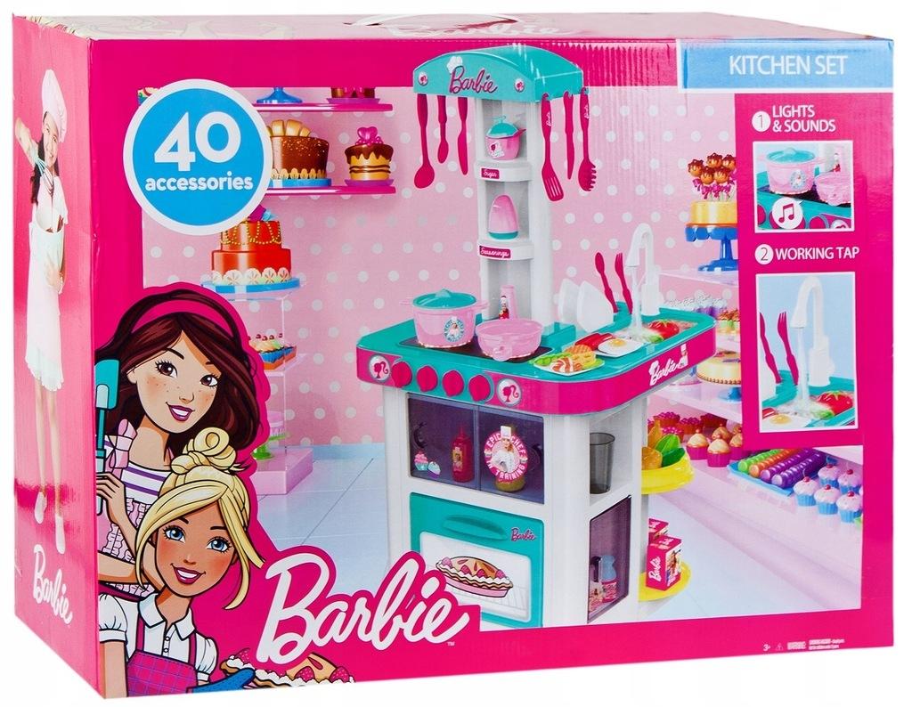 Barbie Duza Kuchnia Z Akcesoriami 447822 9160133510 Oficjalne Archiwum Allegro