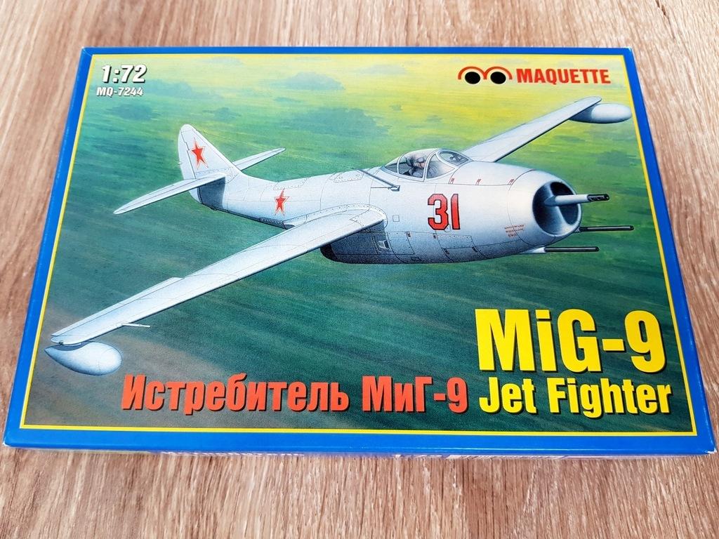 MiG-9 Jet Fighter - MAQUETTE - 1/72 - RARYTAS