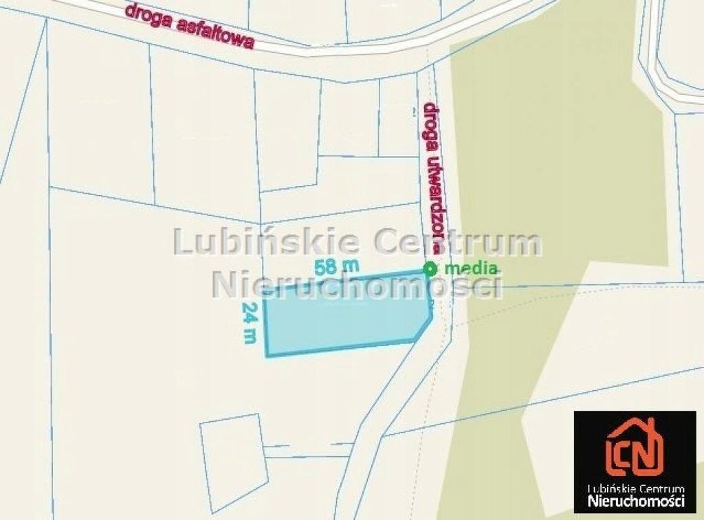 Działka, Szklary Górne, Lubin (gm.), 1389 m²