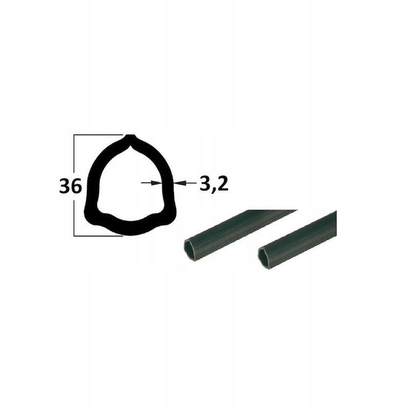 Rura 2m, profil trójkątny 36x 3,2, P4