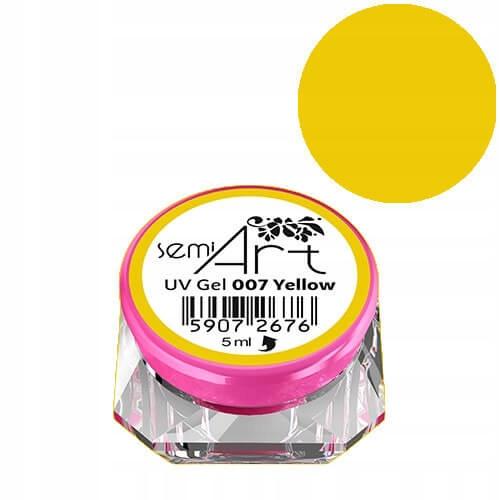 Semilac Semi Art UV Gel 007 Yellow żel do zdobień
