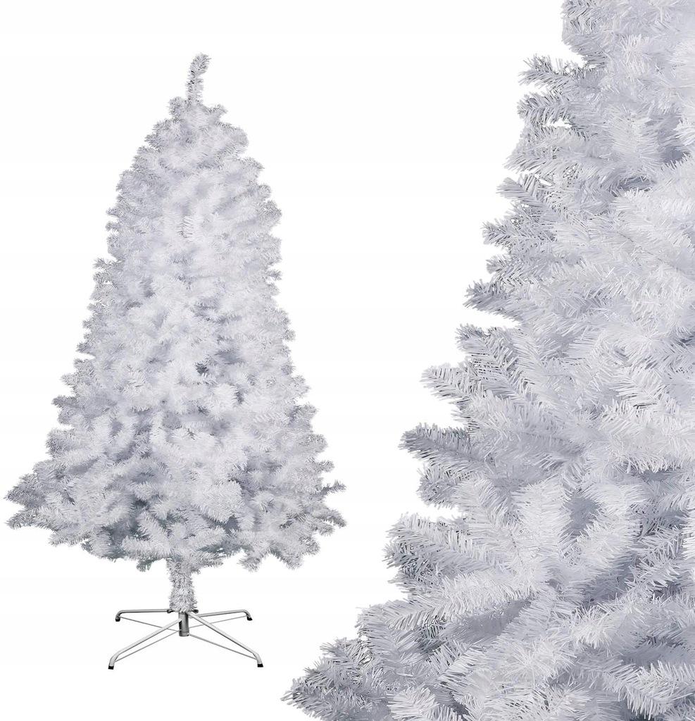 Choinka sztuczna biała 180CM