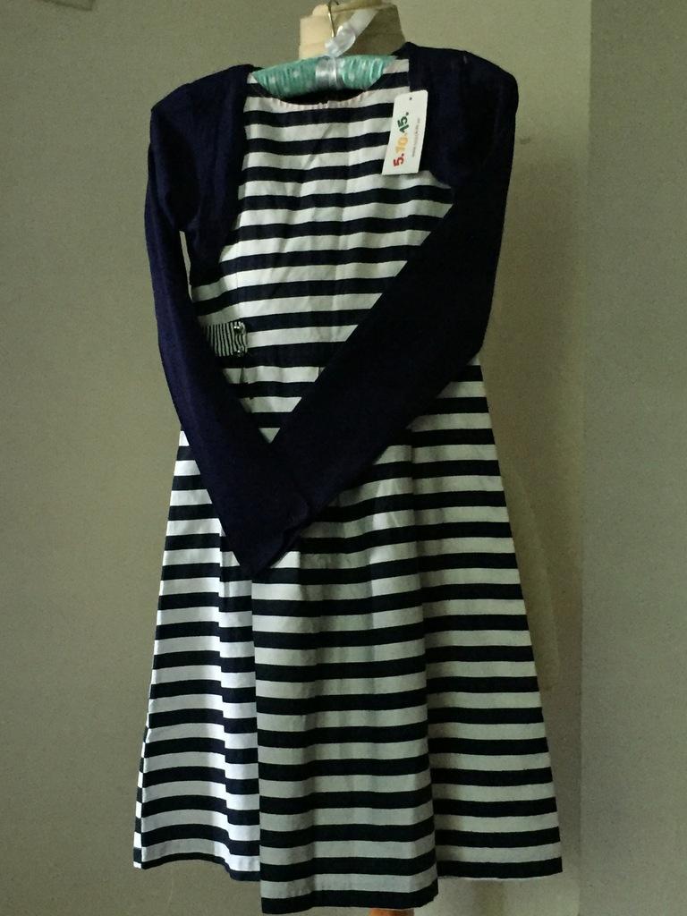 sukienka+bolerko 5.10.15 komplet r. 14; 10-11lat