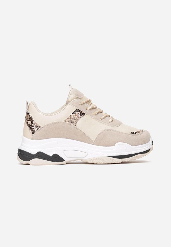 Jasnobeżowe Sneakersy 40