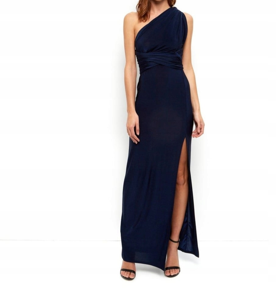 granatowa nowa suknia balowa new look M 38