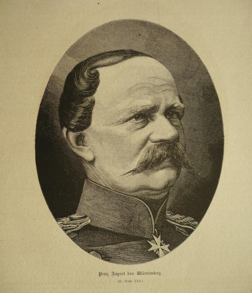 Prinz August von Wurttembeg, oryg. 1871