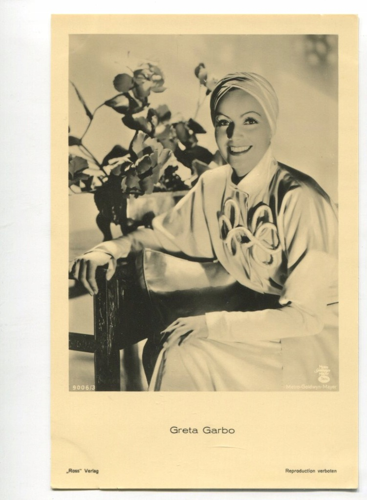 Greta Garbo Kino Film Aktorka Foto Pocztówka 30