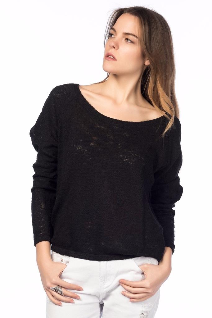 ZARA czarny sweter oversize bawełna 38 M