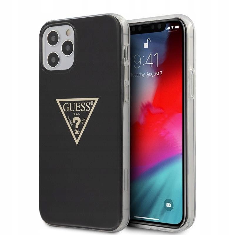 Guess Metallic Triange - Etui iPhone 12 / 12 Pro (