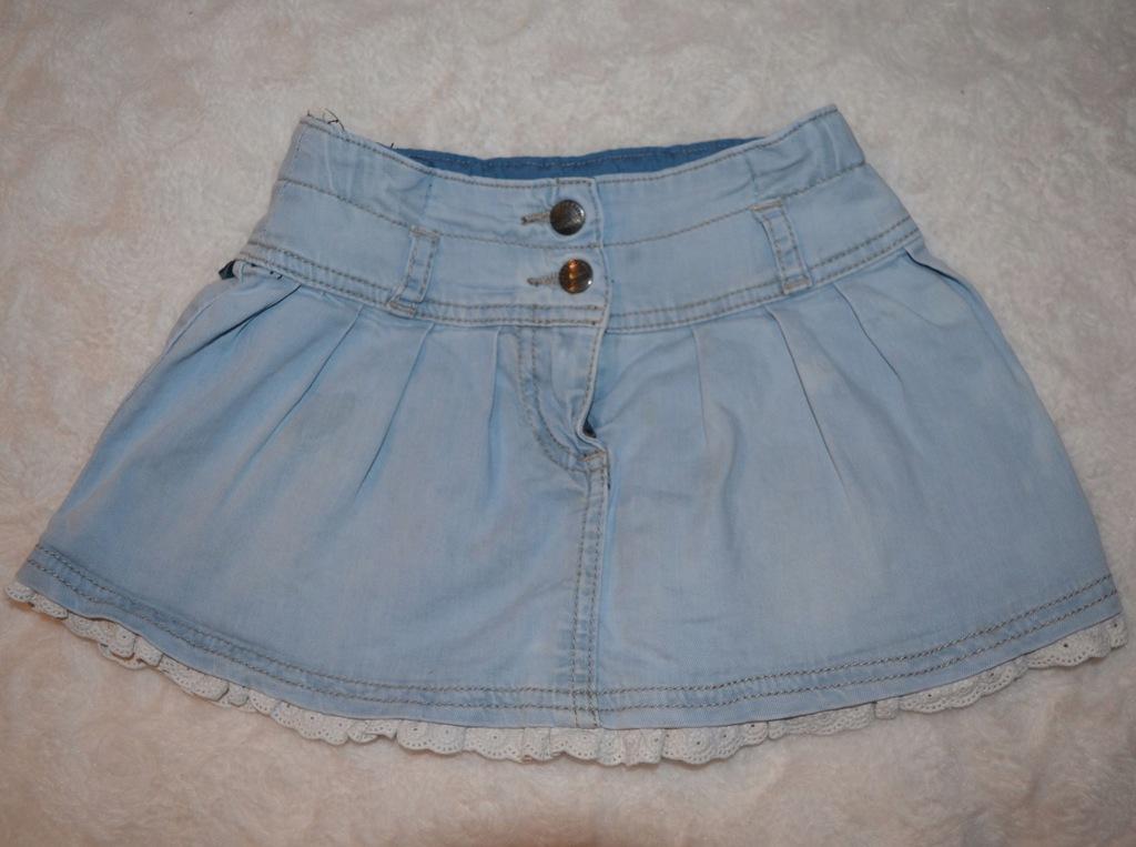 Spódniczka jeans COCCODRILLO 92 z koronką