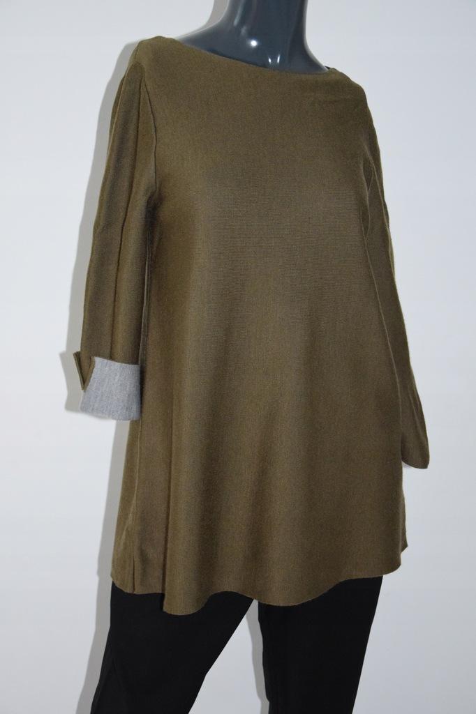 cos khaki sweter wełna A-line r. XS