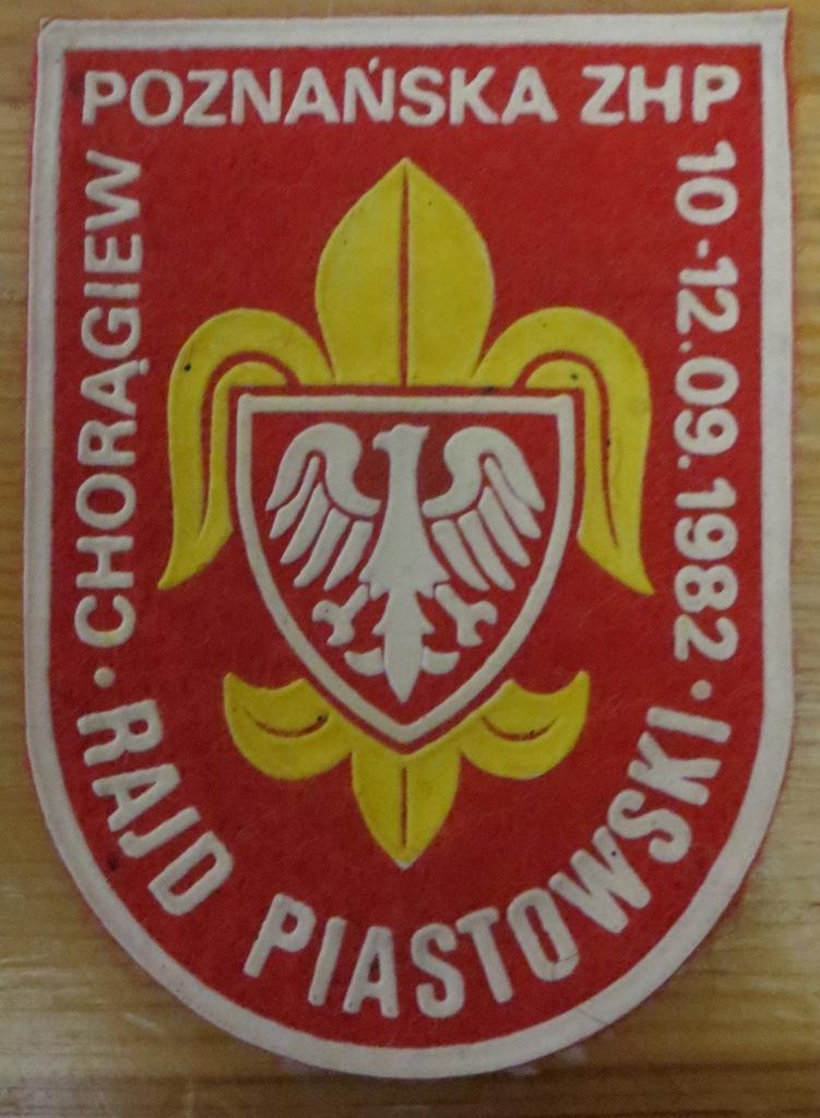 Plakietka Rajd Piastowski ZHP 1982