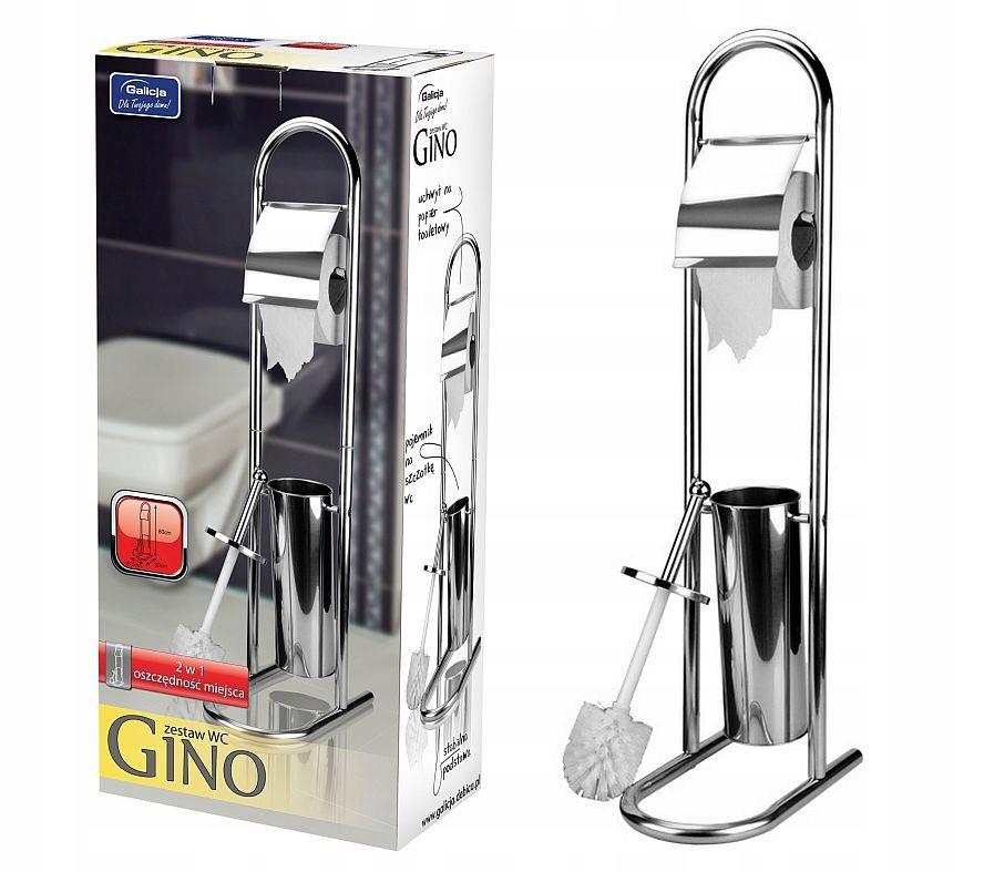 STOJAK ZESTAW na szczotka wc i papier GINO