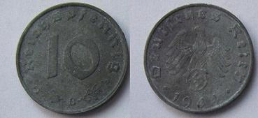 Niemcy 10 reischpfennig 1944 B