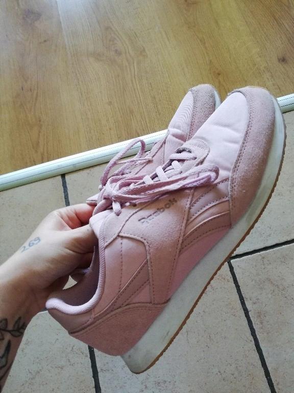 Sneakersy buty Damskie Reebok LTHR pudrowy róż 39
