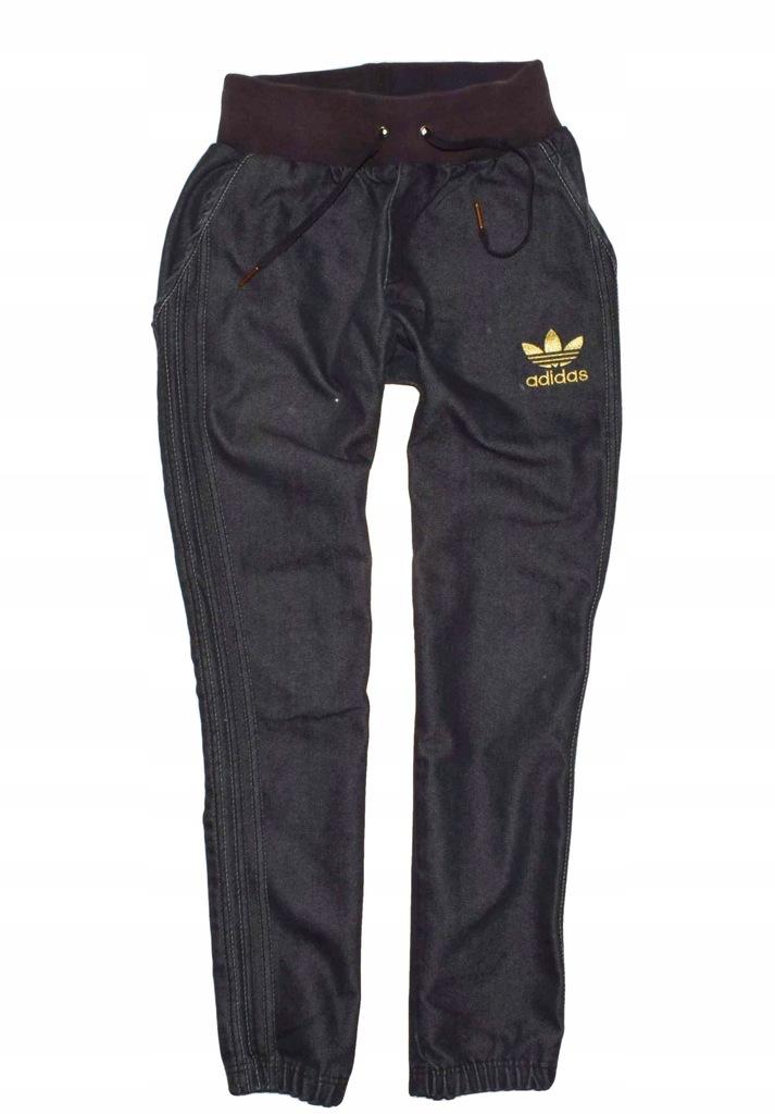 Adidas Originals S/M joggery spodnie jeansow sztos