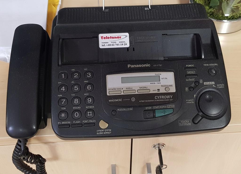 TELEFON FAX Panasonic KX-FT67