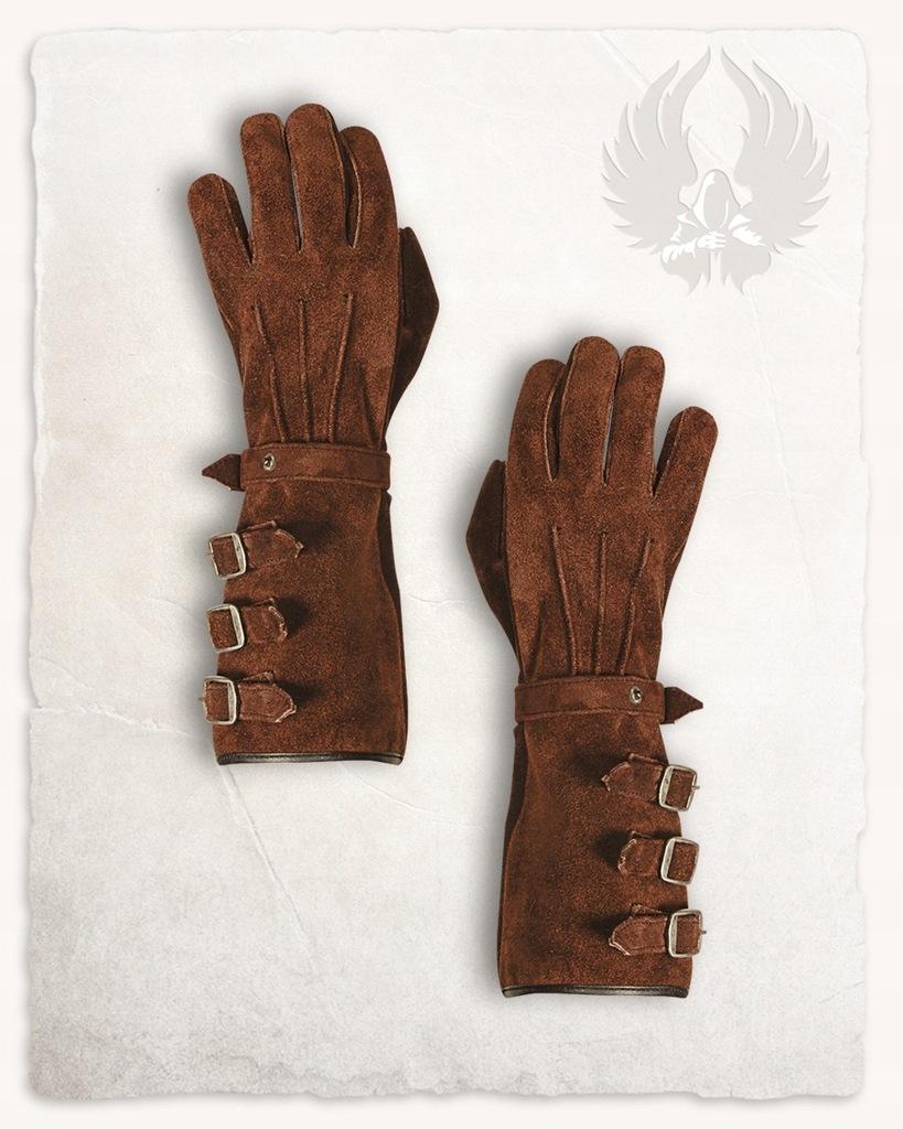 Kandor Gloves M - długie rękawice zamszowe