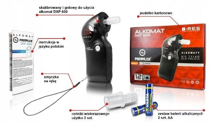 Alkomat Promiler DXP600 czarny