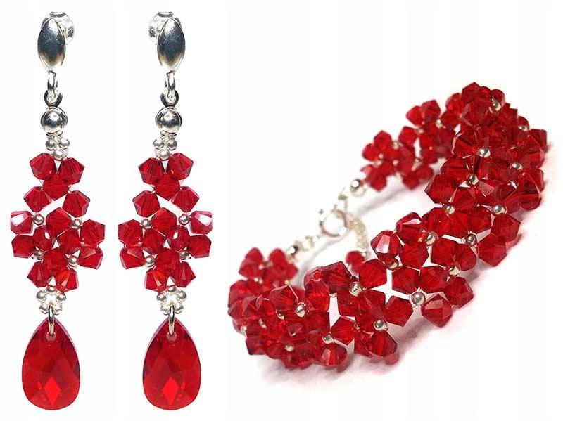 Biżuteria kryształy Swarovski L.Siam 2026 czerwony