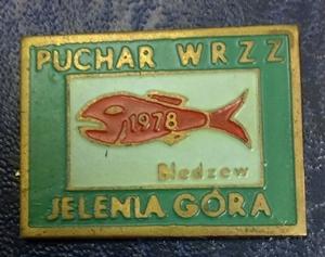 Odznaka wędkarska PZW Puchar WRZZ Bledzew 78