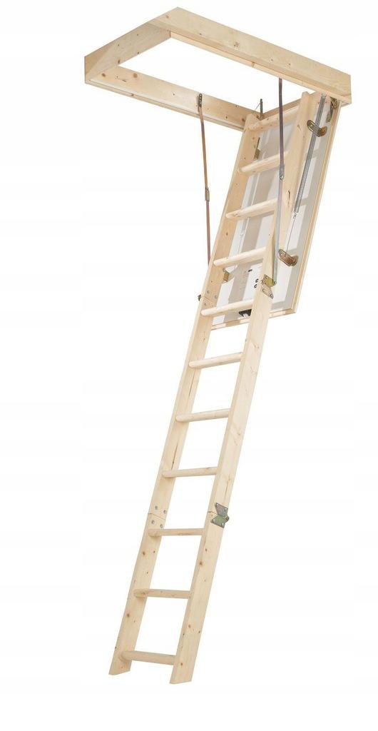 Schody Strychowe 2,77m Właz 57,4 x 115 cm