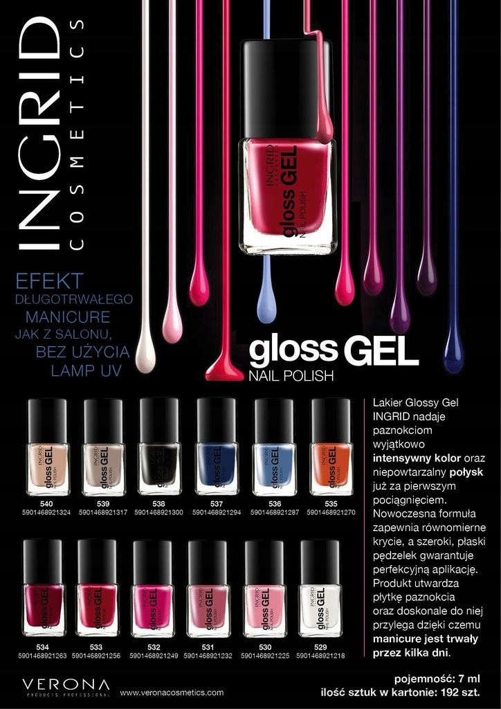 Ingrid Lakier do paznokci żelowy Gloss Gel nr 533