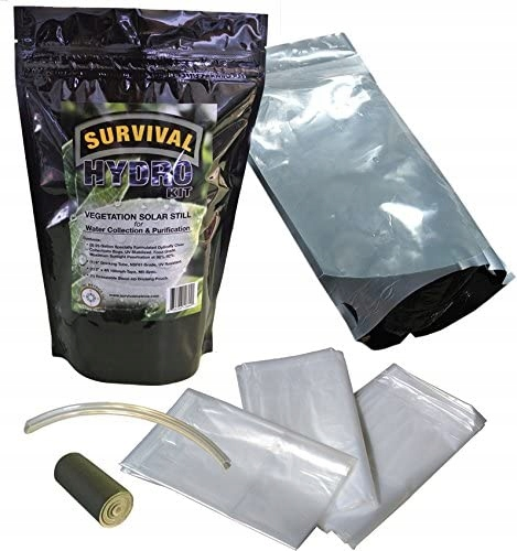 Przezroczyste worki do ekstrakcji wody Survival