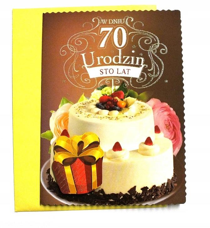 Kartka 70 Urodziny 70 Lat życzenia 70 Tka