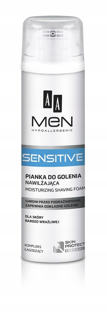 AA Men Sensitive Moisturizing Shaving Foam nawilża