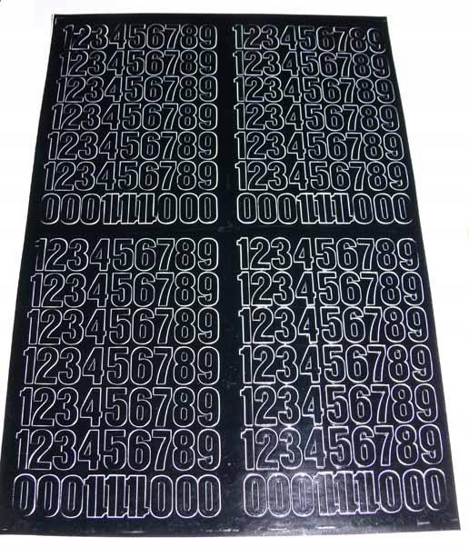 CYFRY SAMOPRZYLEPNE FOLIA ARIEL15mm