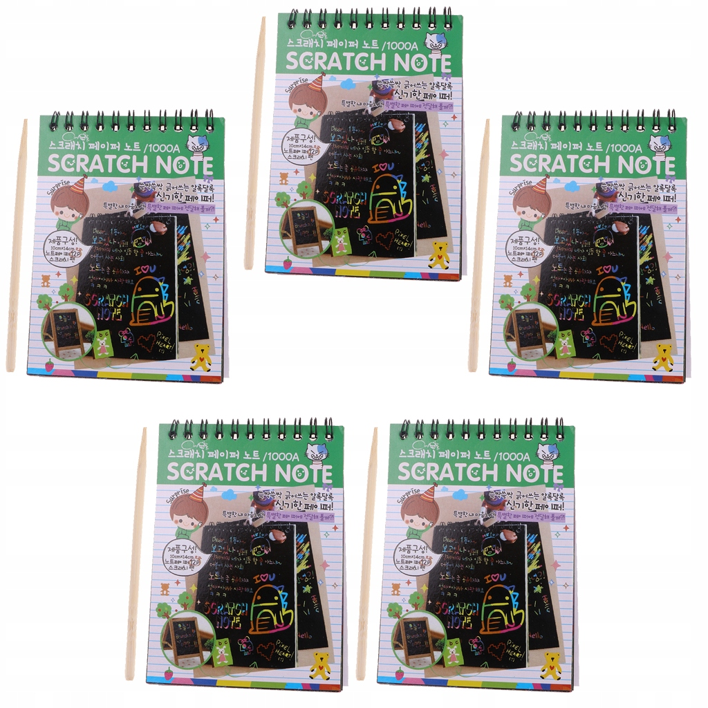 Scratch Drawing Book - Zielony