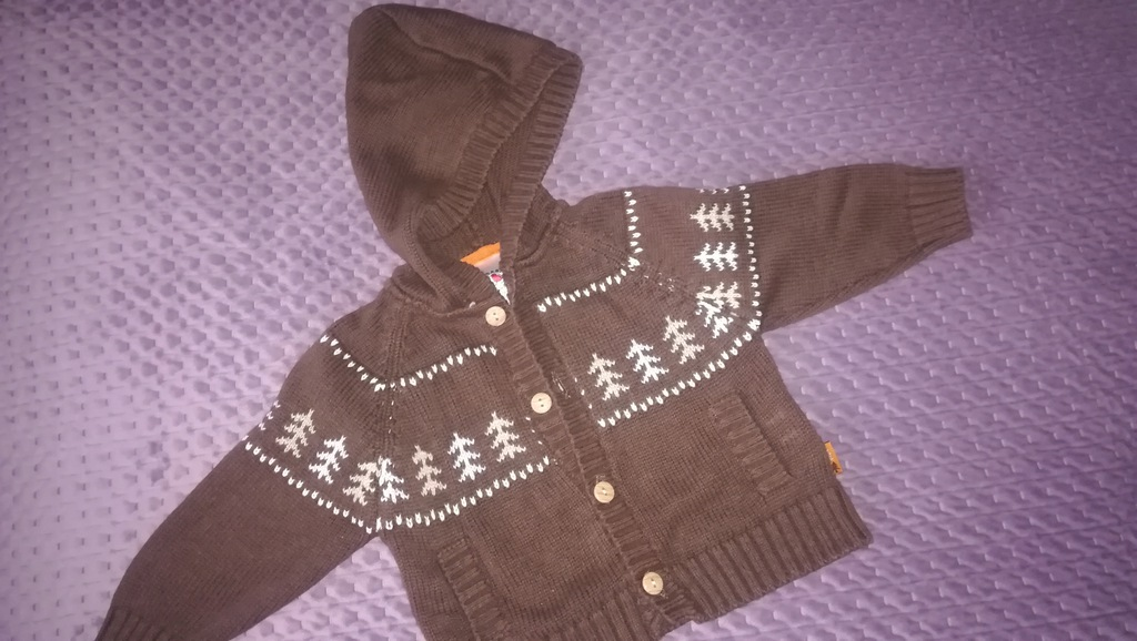 COOL CLUB sweterek rozpinany 68