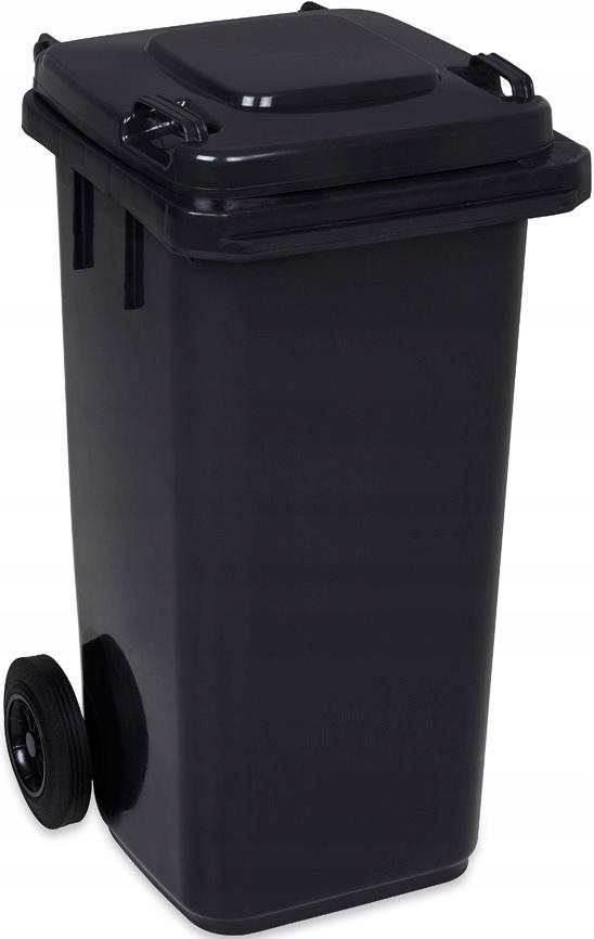 Pojemnik KOSZ na śmieci odpady 120L czarny kubeł
