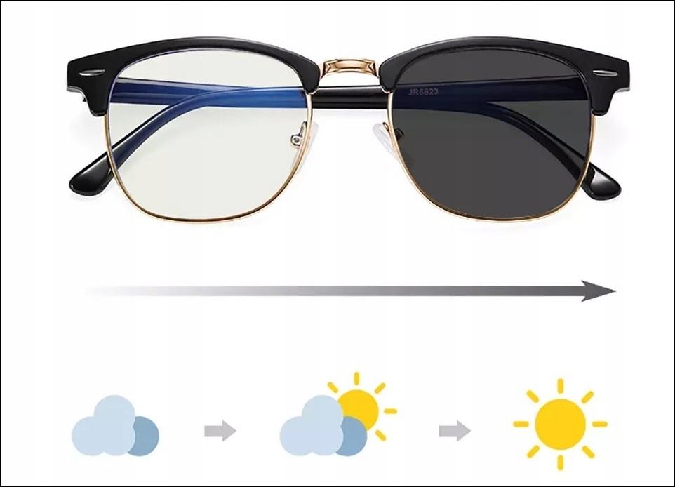 Okulary 2w1 do komputera LED + przeciwsłoneczne
