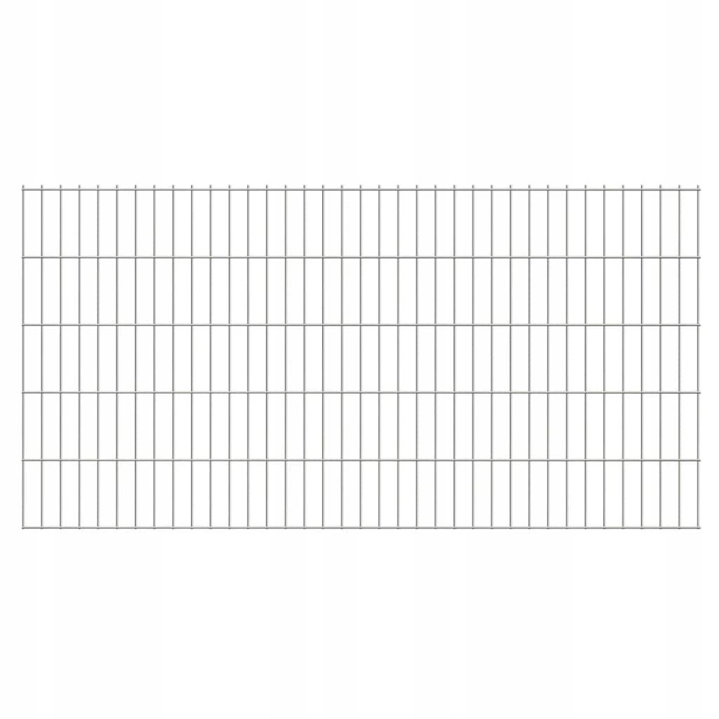 2D Panele ogrodzeniowe 2008x1030 mm 40 m srebrne 2