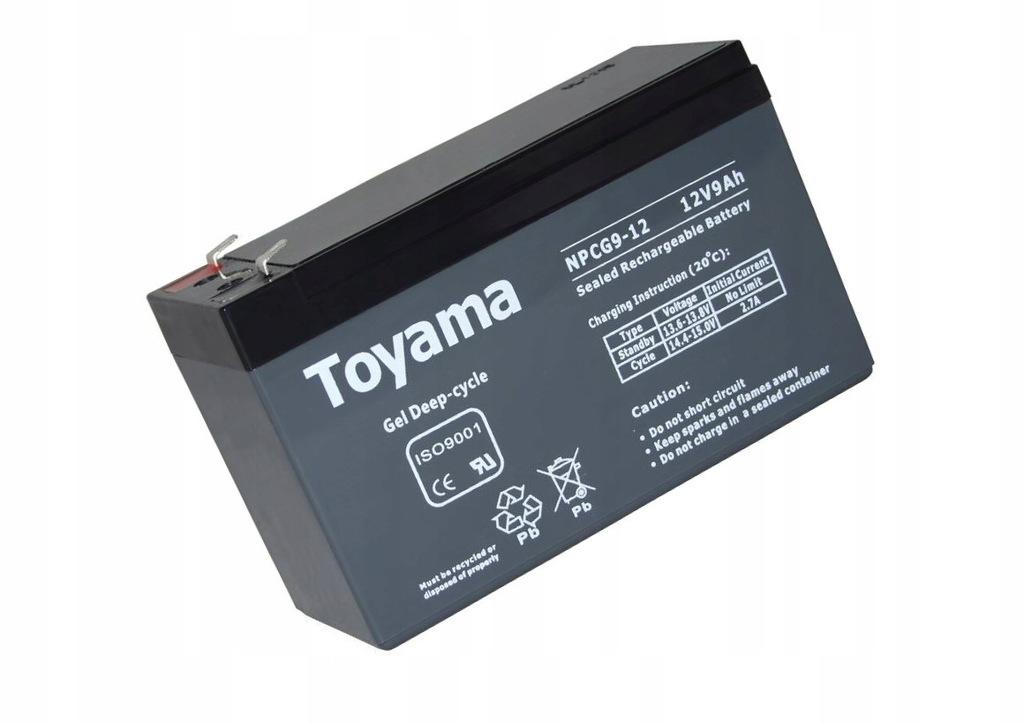 Akumulator Toyama NPCG 9 Ah 12V deep cykl Żelowy