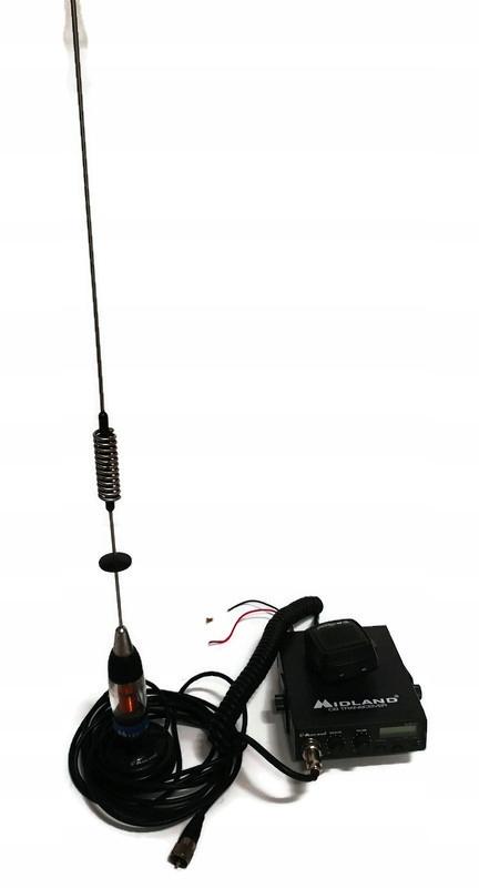 Cb radio midland alan 121+ antena gruszka