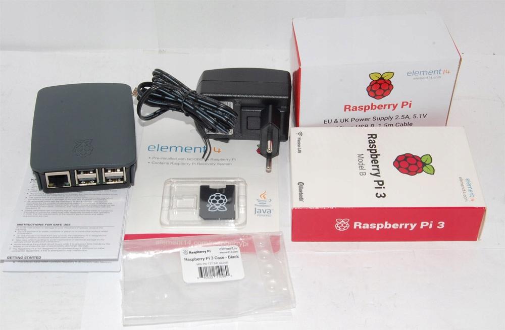 Raspberry Pi 3 Model B Starter kit 16GB + obud.