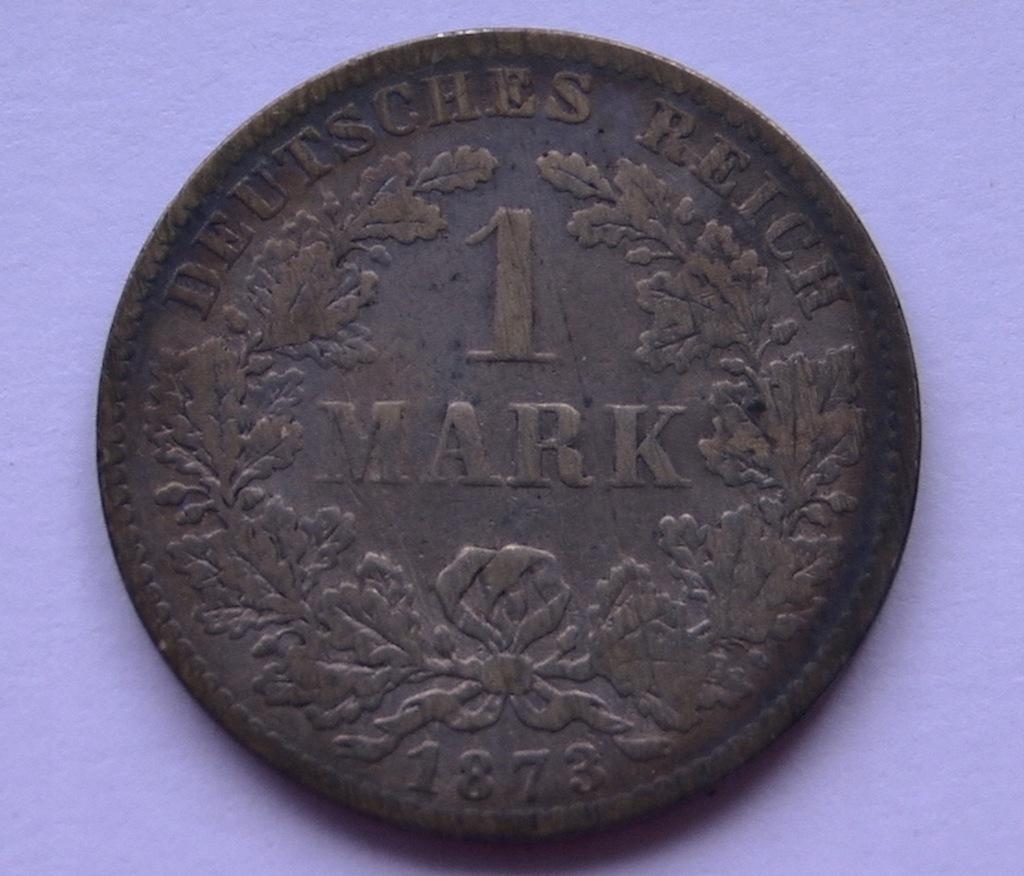 NIEMCY 1 MARKA 1873 D - srebro / rzadka