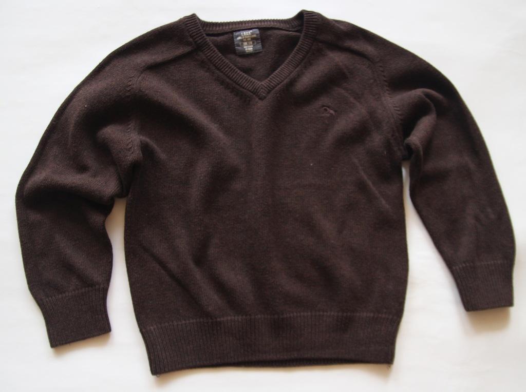 H&M sweter elegancki brązowy r.110