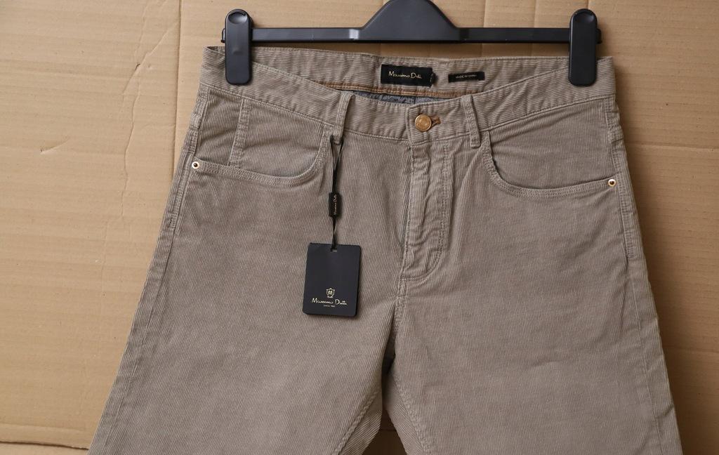Massimo Dutti spodnie sztruksowe r.40