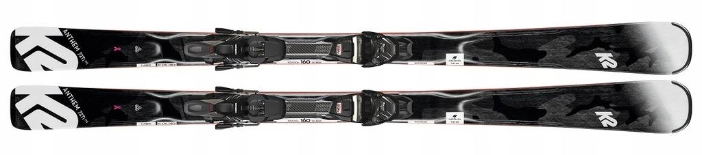 Narty zjazdowe K2 Anthem 72 Ti 153 Marker ERC 11 T