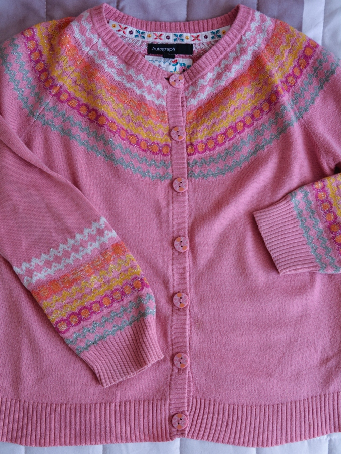 Cienki sweterek M&S 5-6 lat 116
