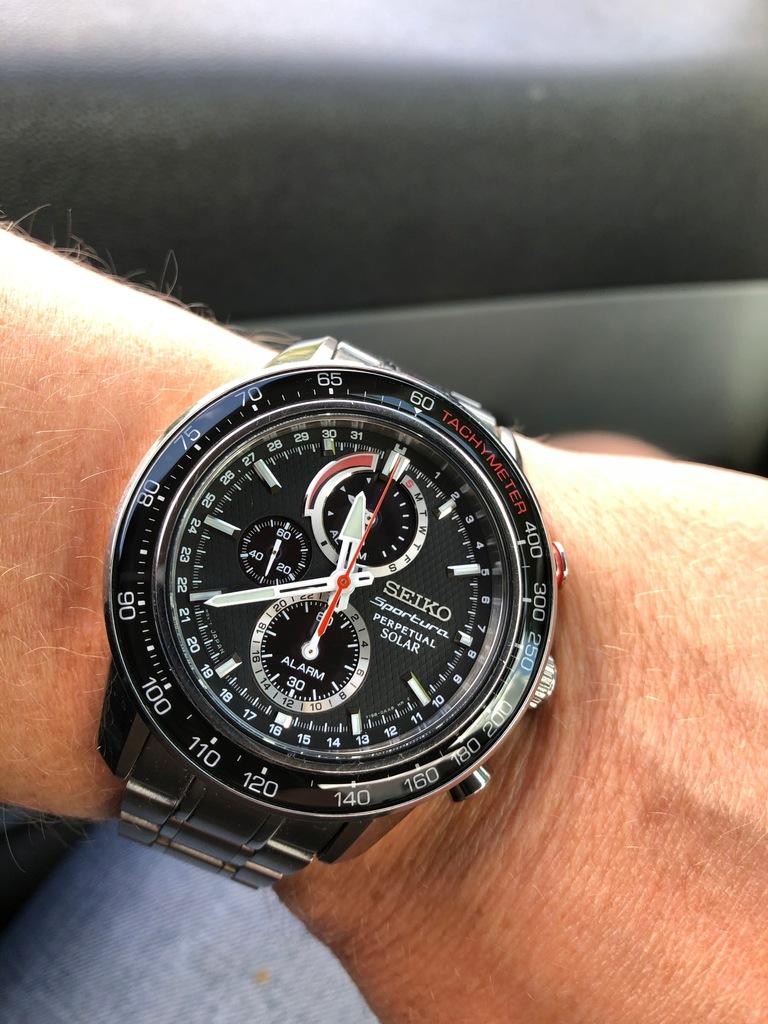 Zegarek Seiko sportura solar (alarm)
