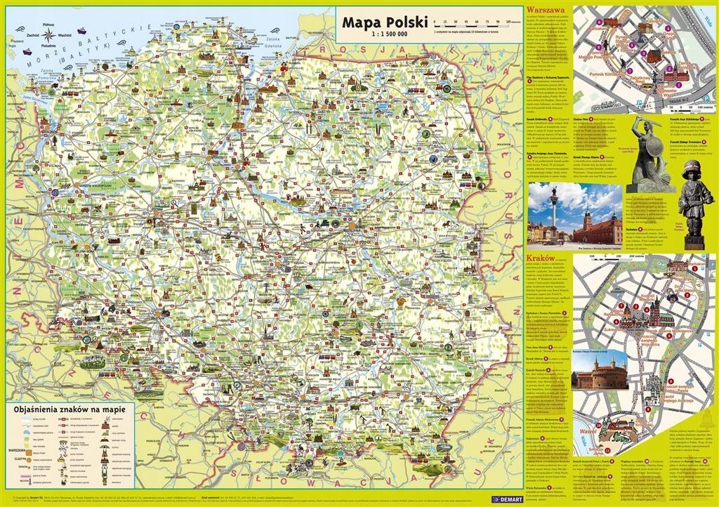 Plansza edukacyjna - Mapa Polski Junior +ZAKŁADKA